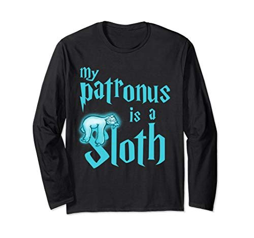 My Patronus Is A Sloth Cute Funny Animal Lover Long Sleeve