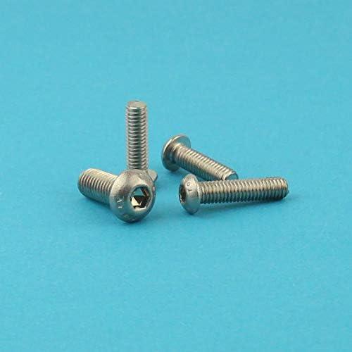 M4 x 60 mm Linsenkopfschrauben mit Innensechskant rostfrei - ISO 7380 Linsenkopf Schrauben mit Flachkopf Eisenwaren2000 Gewindeschrauben 30 St/ück Edelstahl A2 V2A