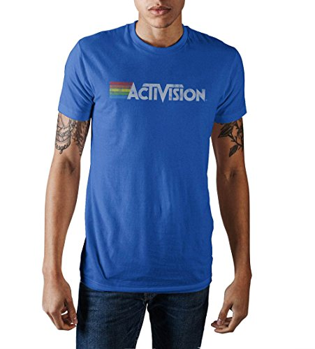 Activision Vintage Logo Men's Royal Blue T-Shirt Large