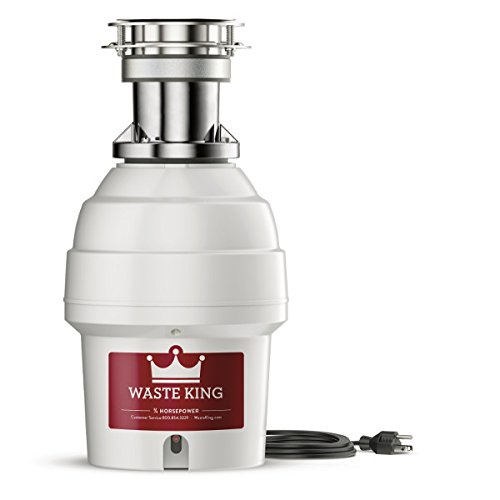 Waste King 9900TC Batch Feed Garbage Disposal with Power Cord, 3/4 - Batch Feed