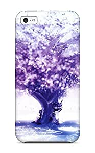 MMZ DIY PHONE CASEFor HtURGKb2438qZGsi Purple Tree Protective Case Cover Skin/iphone 6 4.7 inch Case Cover
