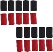 BESPORTBLE 20Pcs Athletes Finger Sleeves Professional Finger Joint Brace Guard Sport Injury Thumb Finger Brace