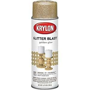 Krylon Glitter Blast Paint 5.75oz Golden Glow