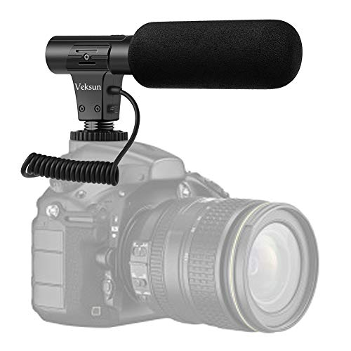 Camera Microphone,Video Microphone for DSLR Interview Shotgun Mic for Canon Nikon Sony Panasonic Fuji Videomic