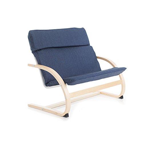 Guidecraft Kiddie Rocker, Denim Couch - Kids Furniture