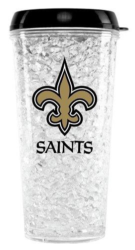 New Orleans Saints Crystal Freezer Travel Tumbler Crystal New Orleans Saints Football