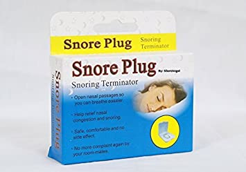 Silent Angel Snore Plug The New Solution to Stop Snoring. Anti-Snoring Nose Clip