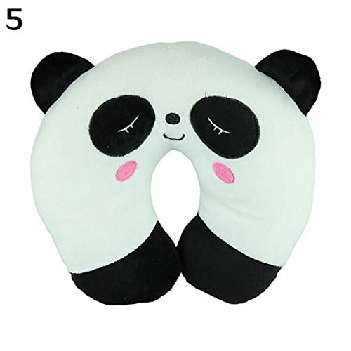 - liuqingwind U Shape Neck Rest Pillow,Cute Cartoon Panda Cat Bear Rabbit Pig Travel Car Home U Shape Neck Rest Pillow - White One Size