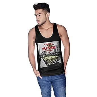 Creo Miami Car Beach Tank Top For Men - S, Black