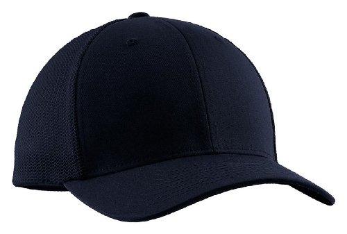 - Port Authority Flexfit Mesh Back Structured Cap_True Navy/True Navy_L / XL