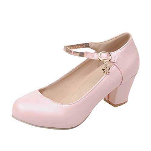 Carolbar-Womens-Plus-Size-Sweet-Buckle-Cute-Lolita-Mid-Heel-Mary-Janes-Shoes