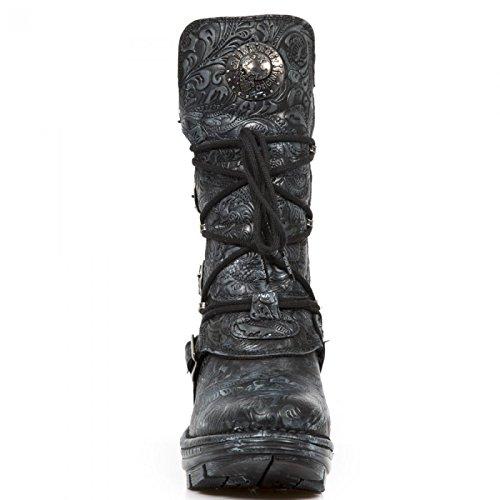 Nuovi Stivali Da Roccia M.neotr005-s12 Gotico Hardrock Punk Damen Stiefel Schwarz
