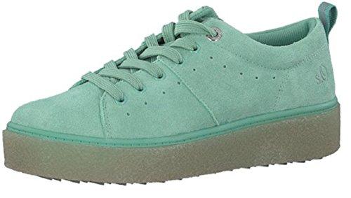 Cordones grün Zapatos Para hell Oliver de s Mujer q0Cxwtna0U