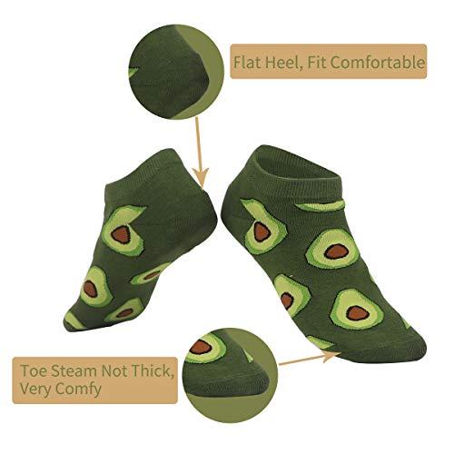 Greuame Non-Slip Colorful Fruit Cotton Casual Socks for Women (5 packs) 02