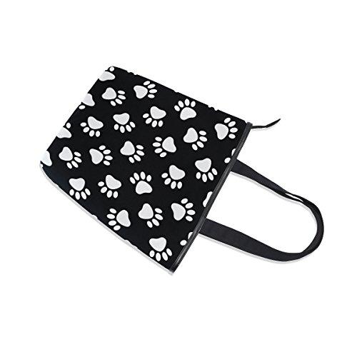 Dog MyDaily Bag Tote Black Womens Claw Canvas Handbag Cat Shoulder wpTIprq