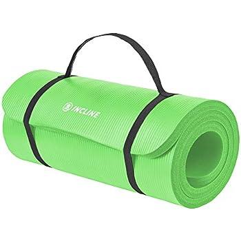 "Amazon.com : Retrospec Solana Yoga Mat 1"" Thick w/Nylon"