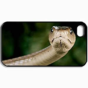 Personalized Protective Hardshell Back Hardcover For iPhone 4/4S, Design In Black Case Color Mamba Design In Black Case Color