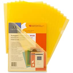 Sparco Transparent File Holder - Letter - 8.50\