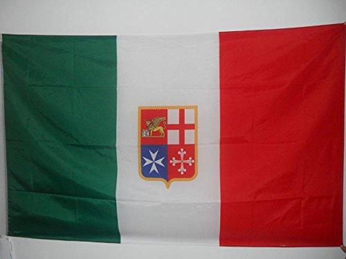 AZ FLAG Italy Navy Civil Ensign Flag 3' x 5' for a Pole - Italian Nautical Flags 90 x 150 cm - Banner 3x5 ft with Hole ()