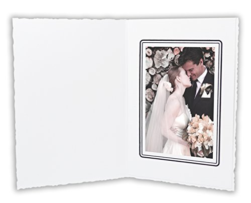 Golden State Art, Cardboard Photo Folder For a 3.5x5 Photo (Pack of 50) GS006 White Color by Golden State Art