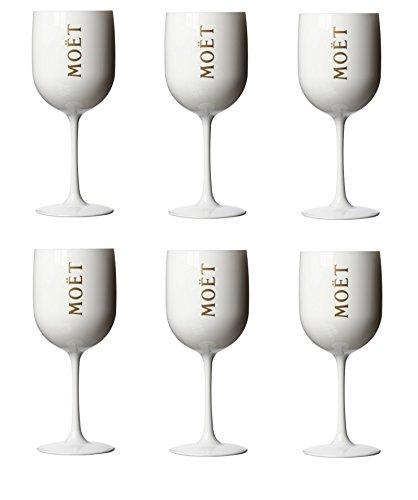6 x Moët & Chandon Ice Imperial Champagner Glas Gläser Set Becher
