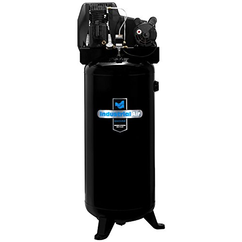 Industrial Air ILA3606056 60-Gallon Single Stage Cast Iron Twin Cylinder Air Compressor (Best Stationary Air Compressor)