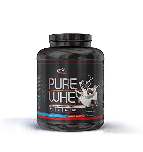 Whey Protein Powder 5 lbs Lean Muscle Micro Ultra Filtrated Mixes Instantly Faster Absorption Over 5g of Glutamine and BCAA 22g of Protein per Serving Low Carb No Aspartame 2.27kg, Cookies and Cream