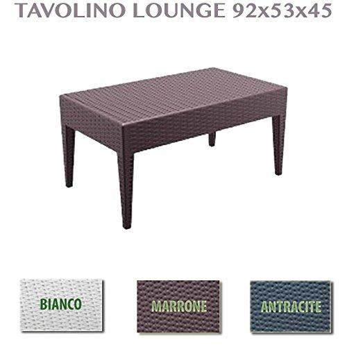 Mesa de jardín ratán rectangular mesa para muebles exterior jardín ...
