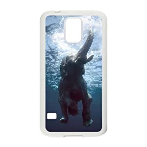 Bathing Elephant Customized Cover Case with Hard Shell Protection for SamSung Galaxy S5 I9600 Case lxa#844489