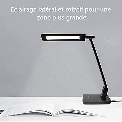 BESTEK Lámpara de escritorio LED con conector USB, regulable ...