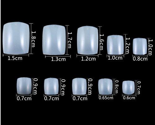 Ca. 500pz/scatola ABS unghia artificiale nail art salone da donna BAIDO