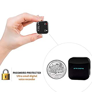 Mini Voice-Activated Recorder with Digital Display and Password Protection (4GB)