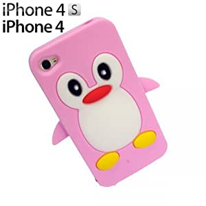 OnlineBestDigitPenguin Style Soft Silicone Case For Iphone 5C Cover NBAPink