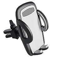 """Support Téléphone Voiture, PEMOTech Le Support Berceau Ventilé pour Téléphone Portable dans la Voiture avec Angle Universel et Adjustable avec une Rotation w/ 360 degré& l'Opération du Bouton Déclencheur d'Une Main pour iPhone 7, 7 Plus, 6s 6s Plus 6 6 Plus SE, Samsung Galaxy S8 S8 Plus S7 S7 Edge S6 S6 Edge, Largeur d'autres Appareils entre 2""""-4"""" Conduite Mains libres"""
