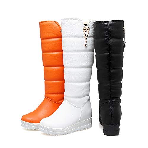 [SHINY STAR] ロングブーツ スノーブーツ レディース 女の子 4cmヒール 20.0cm~26.0cm ウィンターブーツ 厚底 防寒 裏地ボア 雪靴 暖かい おしゃれ 美脚 通勤通学