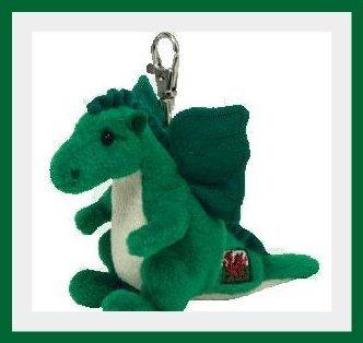 TY Beanie Baby - DEWI Y DDRAIG the Dragon ( Metal Key Clip - UK Welsh Exclusive ) by Ty