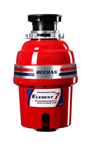 BECBAS ELEMENT 7 Garbage Disposal,1HP 2700RPM Household Food Waste Disposer, With Power - State Series Watch Legend