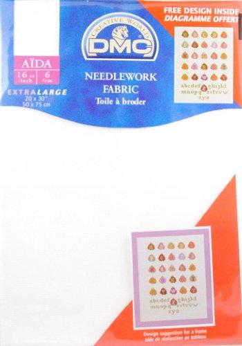 16 Count Aida Fabric 20x30 Inches  - Blanc - DC88/10