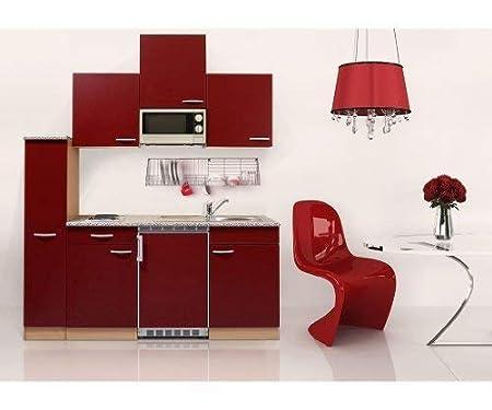 respekta KB180WWMI - Bloque de Cocina (180 cm, Haya, Rojo ...