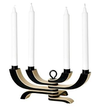 nordic lighting. design house stockholm nordic light candle holder 4arm in black lighting