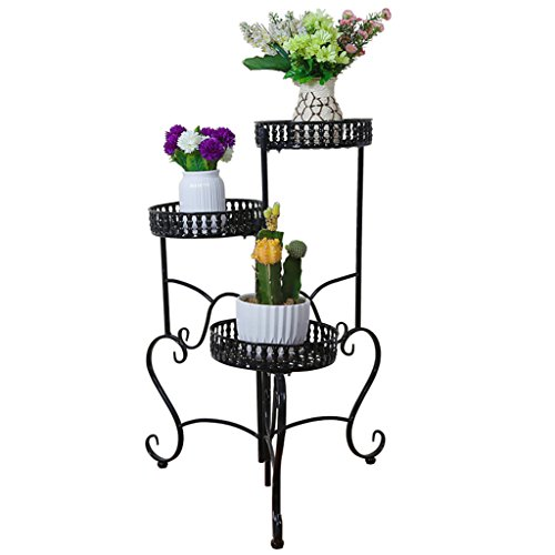 SANDM Pot plant stand Plant stand,Modern [multilayer] [iron] Flower Green rose Chlorophytum Ground Balcony Indoor Living room Outdoor-D (Out Furniture Pallets Wood Outdoor Of)
