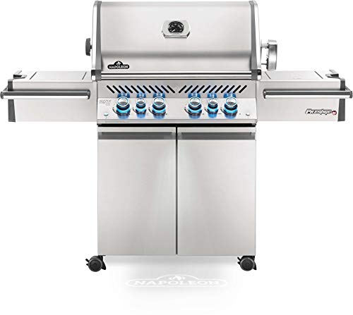 Napoleon PRO500RSIBPSS-3 Prestige PRO 500 Propane Gas Grill with Infrared Rear and Side Burner, Stainless Steel (Napoleon Grill Gas)