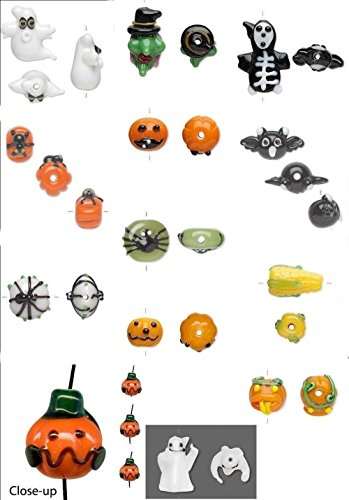 Halloween Lampwork Glass Beads for Jewelry Making, Supply