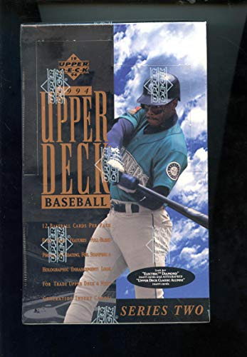 1994 Upper Deck Baseball Card Wax Pack Box Series 2 Two Set ()