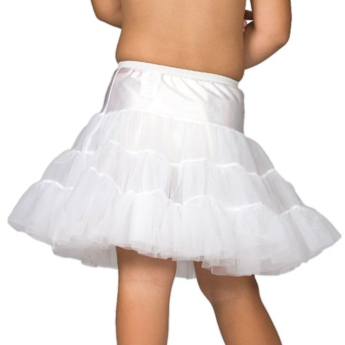 I.C. Collections Big Girls White Bouffant Half Slip Petticoat, 8