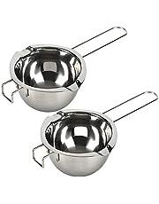18/8 Stainless Steel Universal Double Boiler | Melting Pot | Smart Baking Tool (Set of 1) (2, 18/8) (Set of 2)