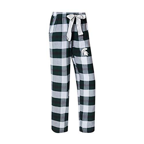 Concepts Sport Michigan State University Women's Flannel Pajamas Plaid PJ Bottoms (XX-Large)