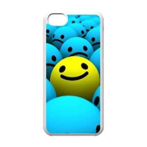 linJUN FENGProtection Cover Hard Case Of Smile Face Cell phone Case For ipod touch 5