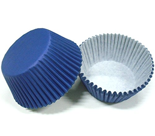 LILACORP 100pcs Navy Blue Plain Solid Color Paper Cake Cup Liner Baking Cup Muffin tray Cupcake Cases 4 birthday wedding by LILACORP