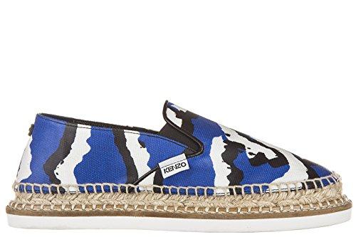 Kenzo-Womens-Espadrilles-Slip-On-Shoes-Blu